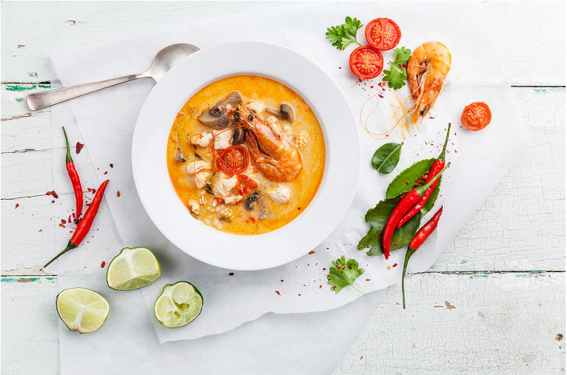 coconut prawn curry soup